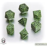 Forest 3D Dice Set, Green/Black