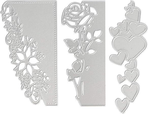 3PCS Diy Lace Metal Embossing Cutting Dies Stencil Scrapbooking Paper Card Craft