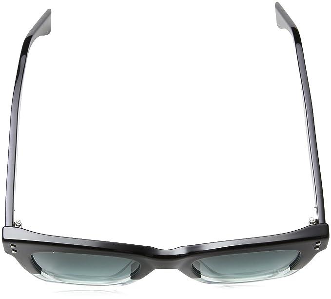 742eba13e31b4 Amazon.com  Fendi FF 0237 7ZJ Color Block Black Crystal Green Plastic  Square Sunglasses Green Gradient Lens  Clothing
