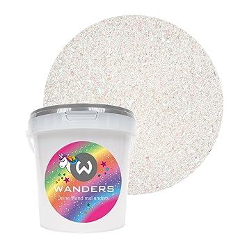 Wanders24 Einhornspucke (1 Liter) Wandfarbe mit Glitzer-Effekt zum ...