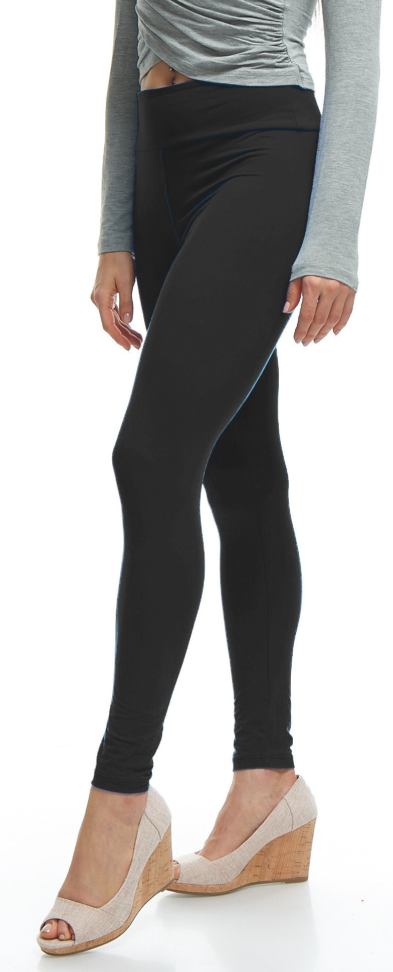 LMB Yoga Leggings Buttery Soft Material - Variety of Colors - Black by LMB (Image #5)