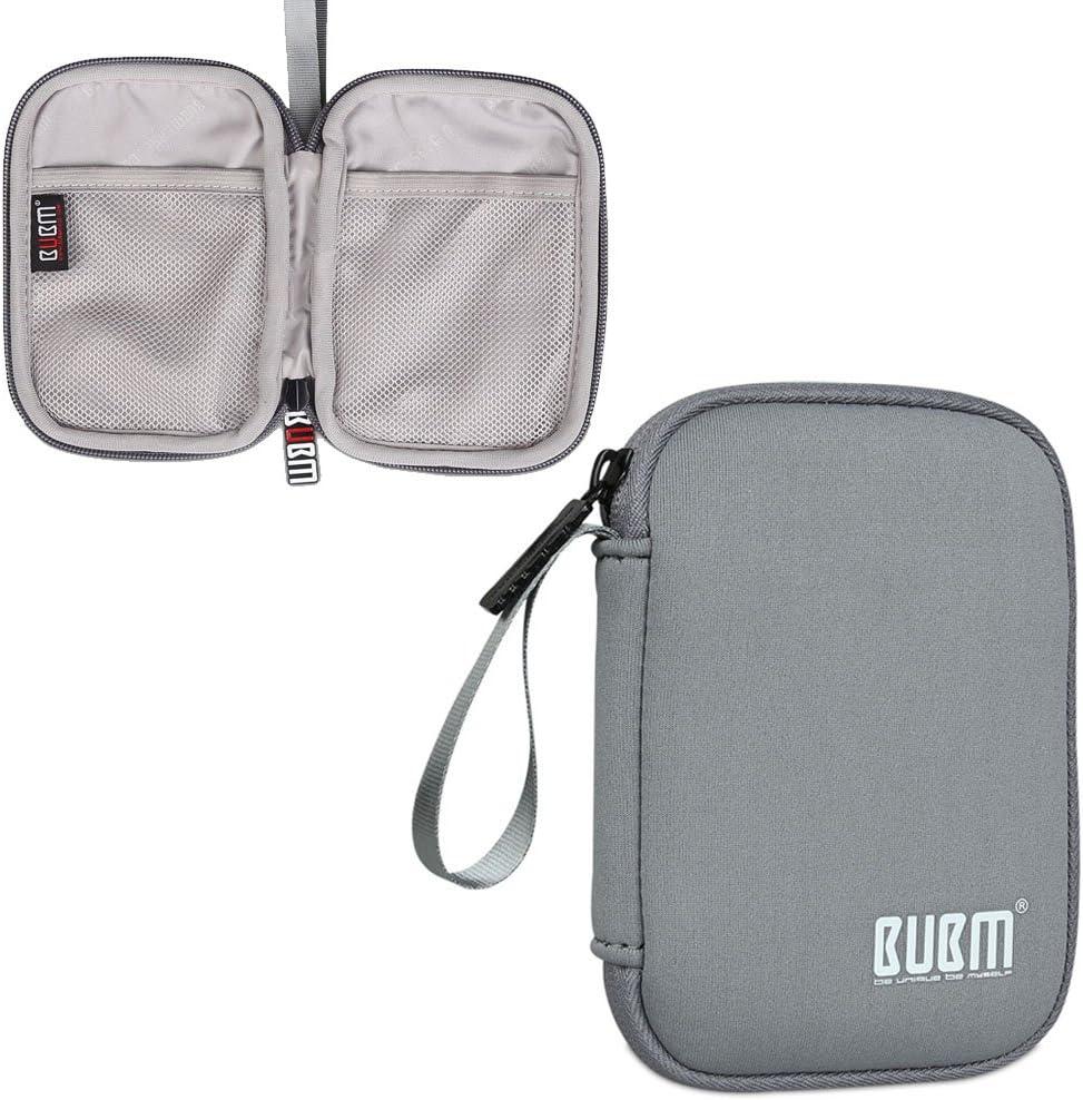 BUBM Organizador de Memorias de USB Estuche para Disco Duro de 2.5 Pulgadas Caja para WD/Western Digital/Seagate/Toshiba/Buffalo/Samsung éct (Pequeño),Gris: Amazon.es: Electrónica