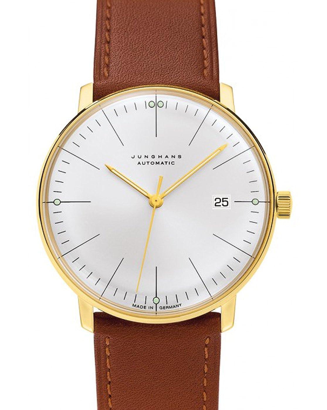 Junghans - MAX Bill - -para Hombre automático Barras Blanco 38 mm Oro para Hombre - TU: Amazon.es: Relojes