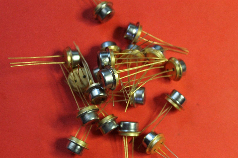 S.U.R. & R Tools KT602B transistor silicon GOLD USSR 2 pcs