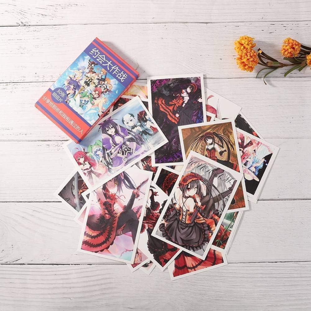 Ailin Online Japanisches Anime Postkarten 30pcs Sammelobjekt Verschiedene Manga Foto Karten f/ür Anime Fans Attack On Titan