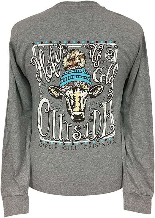 Girlie Girl Originals• Women's Hangin' With My Heifers Light Blue T-Shirt Small