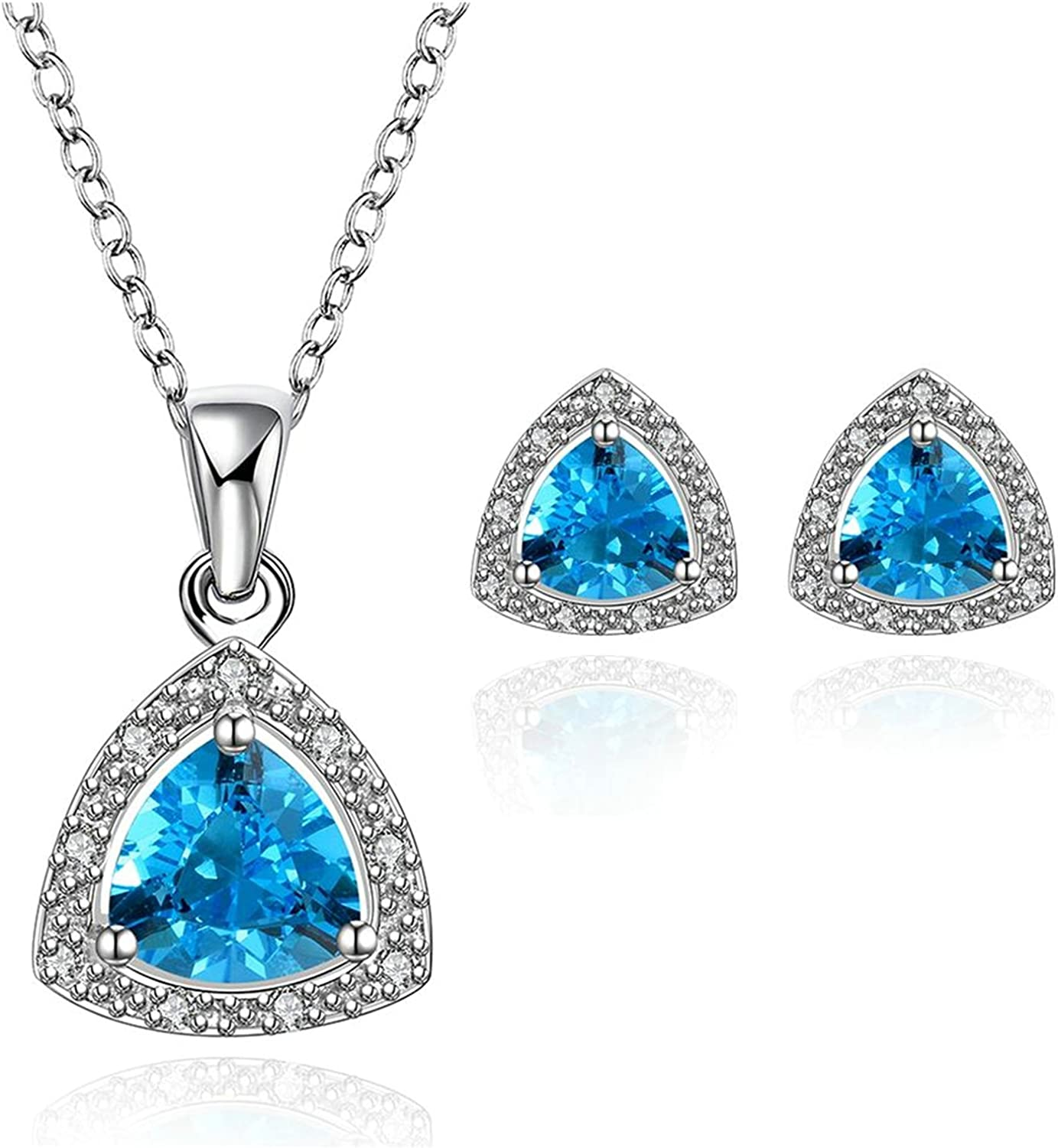 Gnzoe Jewelry Silver Plated Women Earrings Anklet Crystal Inlaid CZ Jewelry Set