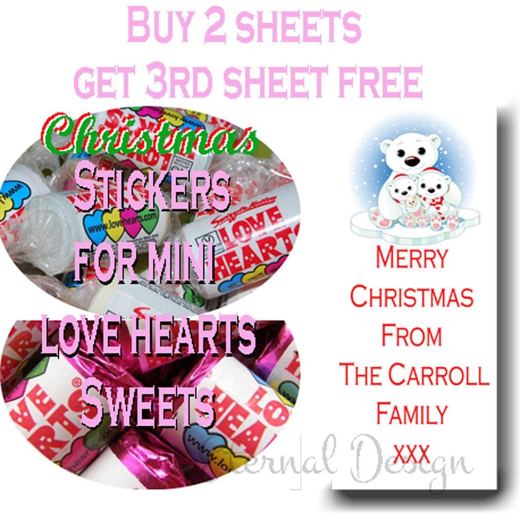 Eternal Design personalizzato lucido adesivi natalizi per mini Love Heart Sweets Xdlvhs 22#NAME?