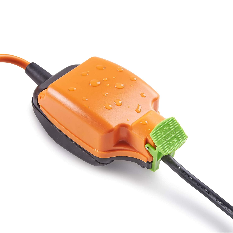 Single Socket IP54 Indoor Outdoor Power Cable 15M Splash-Proof Extension Lead