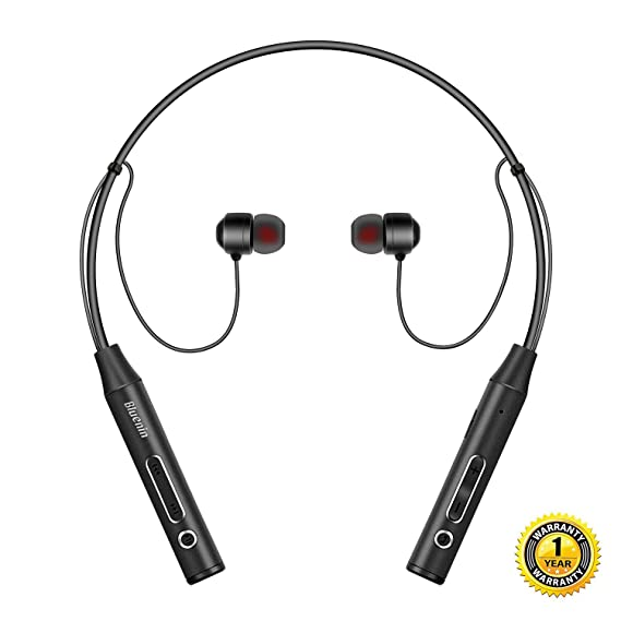 f248a424571 Bluetooth Headphones Bluenin Wireless Headset Stereo Neckband Sport  Sweatproof Earbuds with Mic (10 Hours Play
