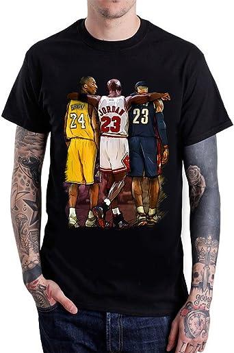 Siete Lobo Kobe Bryant Michael Jordan Lebron James camiseta de hombre: Amazon.es: Ropa y accesorios