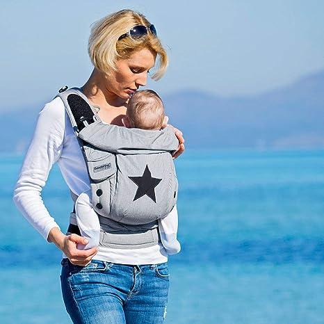Bondolino® Porte-bébé Denim avec étoiles  Amazon.fr  Bébés   Puériculture 56dff585b84
