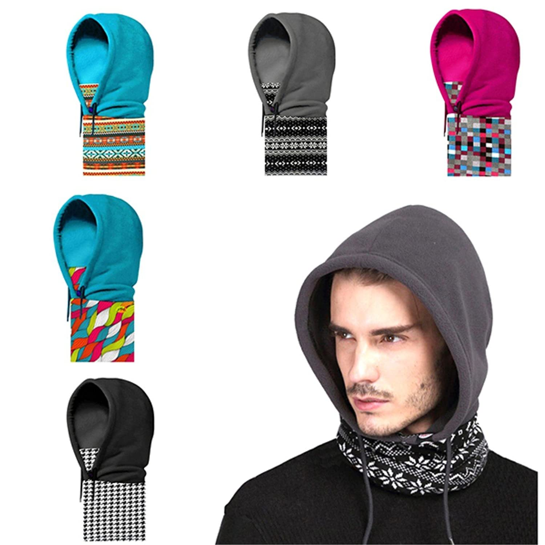 Hoodie Beanie Hood Multifunktionstuch -Mütze Schal Gesichtsschutz Kapuze Fleece Windstopper