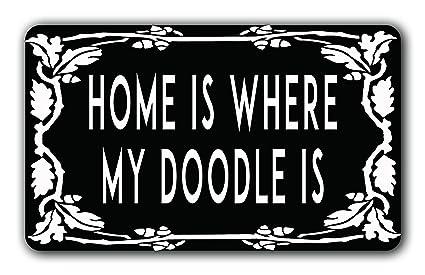 Amazoncom Ulanli Home Is Where My Doodle Is Funny Door Mat