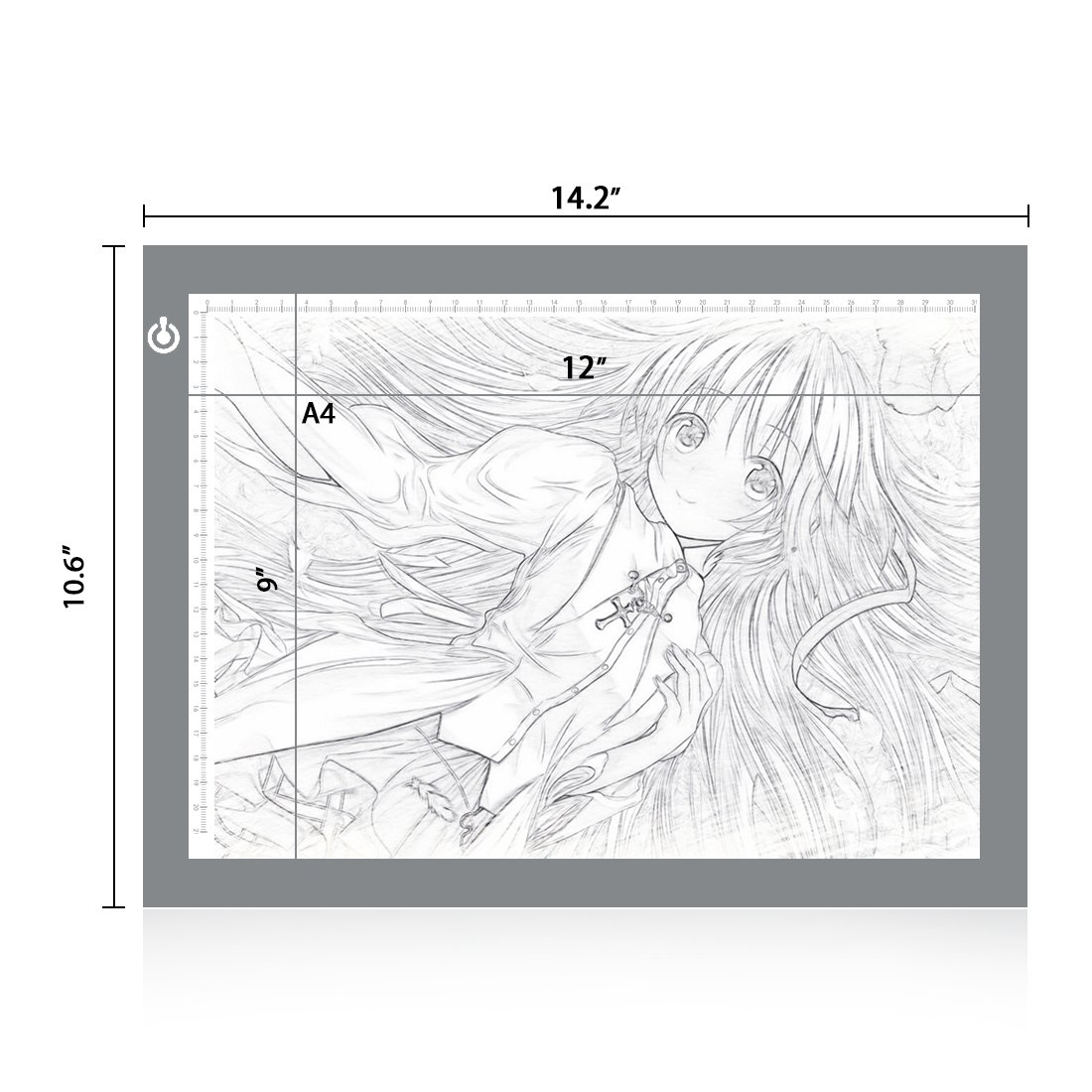NXENTC A4 Tracing Light Pad, Ultra-thin Tracing Light Box USB Power Artcraft Tracing Light Table for Artists, Drawing, Sketching, Animation 4336950963