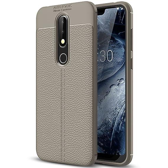 half off b2bc8 e69a5 Amazon.com: Nokia 6.1 Plus Case, Nokia 6.1 Plus Faux Leather Case ...