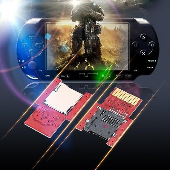 KKmoon SD2VITA PSVSD Micro SD Adaptador para PS Vita 1000 2000 Henkaku 3.60 Apoyo Todos Los Tarjeta-Rojo