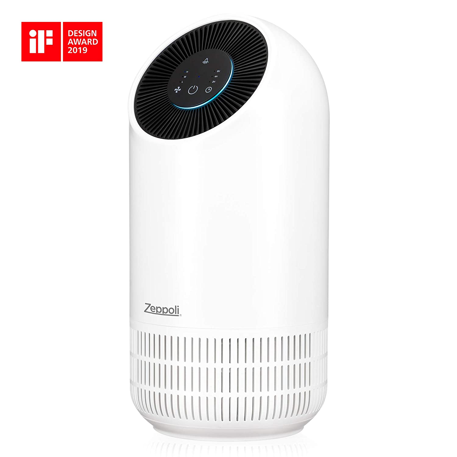 Zeppoli Air Purifier for Home Air Freshener for Pets Hair, Odor Dander Allergies, and Germs Purifiers with True HEPA Air Filter Quiet in Office or Bedroom – Smoke, Dust, and Mold Remover