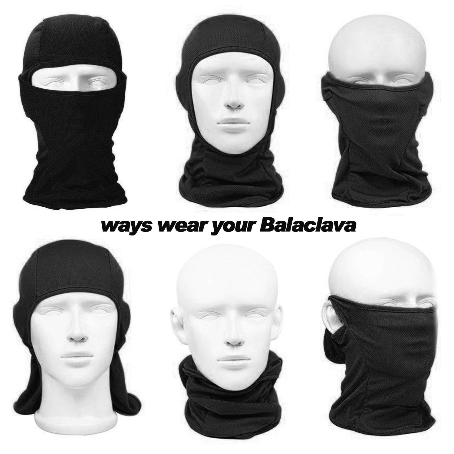 Cycling Windproof Mask Adjustable Face Head Warmer for Skiing Balaclava Motorcycle Outdoor Sports Guangzhou Qinglonglin Apparel CO .LTD BE-bl