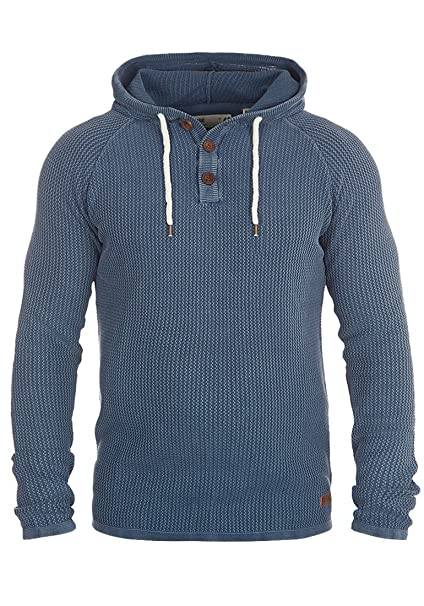 !Solid Ten Jersey De Punto Suéter Sudadera para Hombre con Capucha De 100% Algodón: Amazon.es: Ropa y accesorios