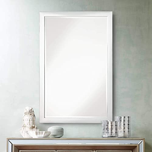 Possini Euro Design Possini Euro Metzeo Chrome 22 x 33 Wall Mirror
