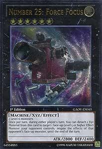 Amazon.com: Yu-Gi-Oh! - Number 25: Force Focus (GAOV-EN045