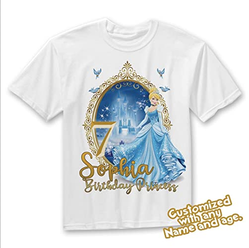 Amazon Cinderella Birthday Shirt Disney Princess Family Handmade