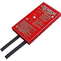 Brennenstuhl Feuer-Löschdecke BLD-02 (Brandschutzdecke 120x120cm, Soforthilfe bei Bränden)