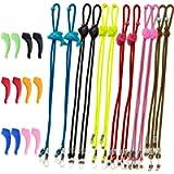 SENHAI 12Pcs Kids Glasses Strap & 6 Pair Silicone Ear Hooks, Adjustable Children Sports Eyeglass Straps Anti-slip…