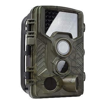 Cámara De Caza De La Fauna, Juego De Trail Cámara 16MP 1080P Impermeable Caza Scouting