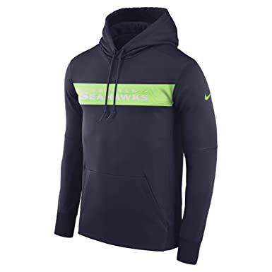 185e633f14e Amazon.com  Nike Dri-FIT Therma (NFL Seattle Seahawks) Men s Pullover Hoodie   Clothing
