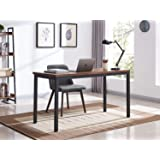 VINEXT Computer Desk 47'', Industrial Home Office Desk, Study and Work Desk, PC Laptop Table, Desk for Bedroom, Black…