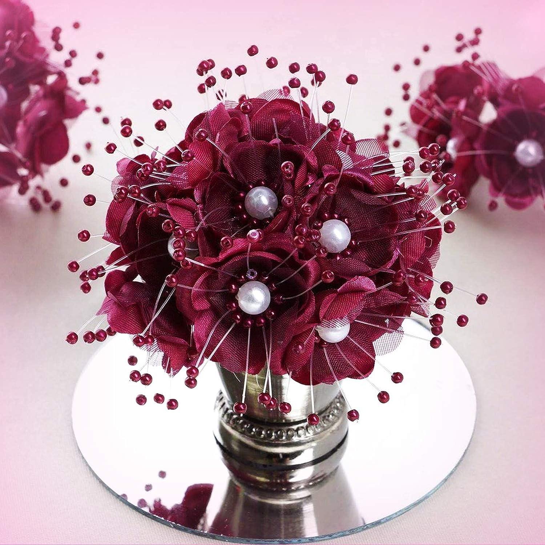 Inna-Wholesale アートクラフト 72個 バーガンディ 人工パール デコレーション 花 パーティー 記念品 デコレーション - 結婚式、特別な行事、ホームオフィスの装飾に最適 B07KNR5B8K