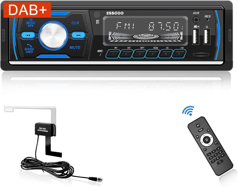 Autoradio Mit Dab Bluetooth Freisprecheinrichtung Dab Rds Mp3 Fm Am Sd Aux 2 Usb Funktion Mit