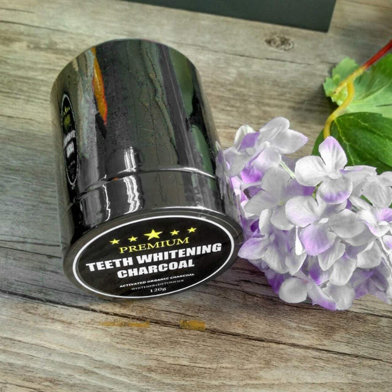 Monllack 120G Aktivkohle-Pulver-Zahnwei/ßung Reinigungskraft T/äglicher Gebrauch Fleckentfernung Pulver Mundz/ähne Pflege Mundhygiene