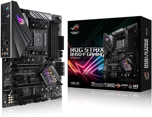 Amazon Com Asus Rog Strix B450 F Gaming Motherboard Atx Amd Ryzen 2 Am4 Ddr4 Dp Hdmi M 2 Usb 3 1 Gen2 B450 Computers Accessories