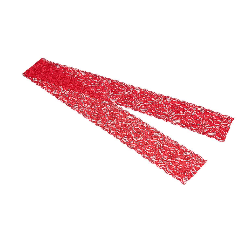 WOVELOT Floral Fleur Stretch Dentelle Bordure Ruban Robe De Couture Jupe Artisanat D/éCoration Couleur Rouge