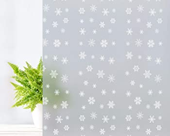 Coavas 17.7 by 78.7 Inches Privacy Frosted Window Glass Film