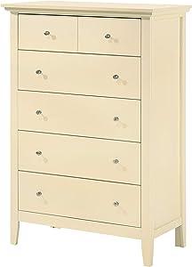 "Glory Furniture Hammond , Beige Chest, 48"" H X 32"" W X 18"" D"