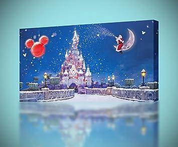 disney castle christmas canvas print home wall decor giclee art poster ca556 regular