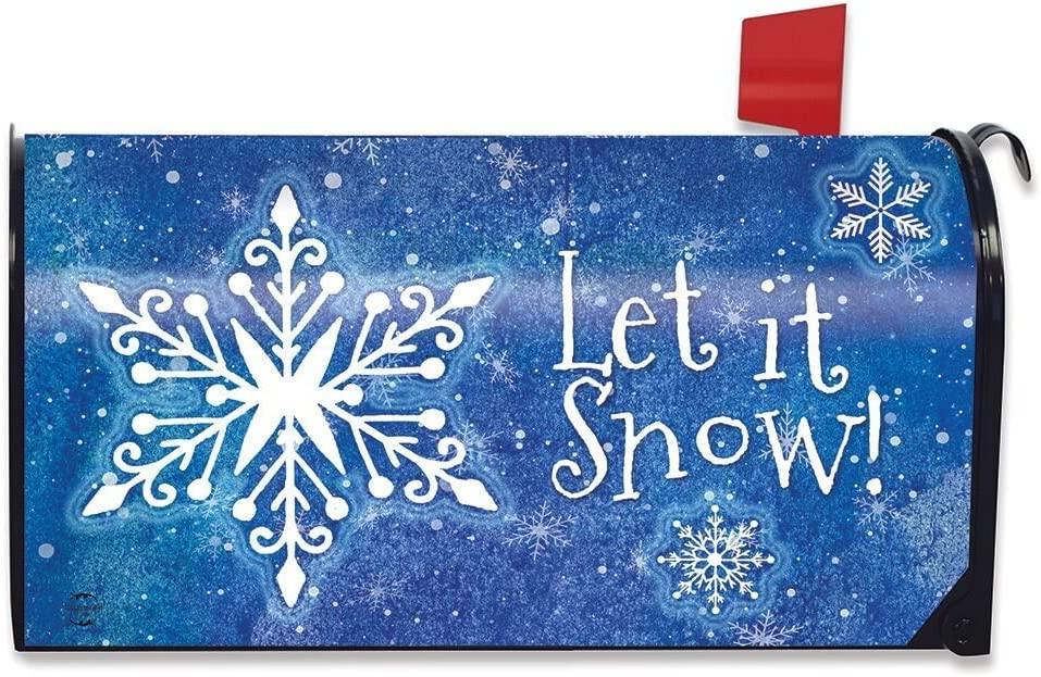 Briarwood Lane Snowflakes Winter Magnetic Mailbox Cover Seasonal Standard