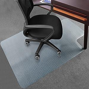 "Office Desk Chair Mat for Carpet Anti-Slip PVC Transparent Sturdy Carpet Chair Mat 48"" x 36"" from Sallymall - No BPA Phthalates, Odorless (Lip)"