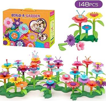 GEMEM - Juego de construcción de Flores para niños de 3, 4, 5, 6 ...