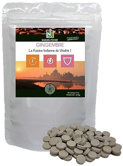 Jengibre | 90 comprimidos de 550 mg | NAKURU Power | Polvo Orgánico Seco y Comprimido ...