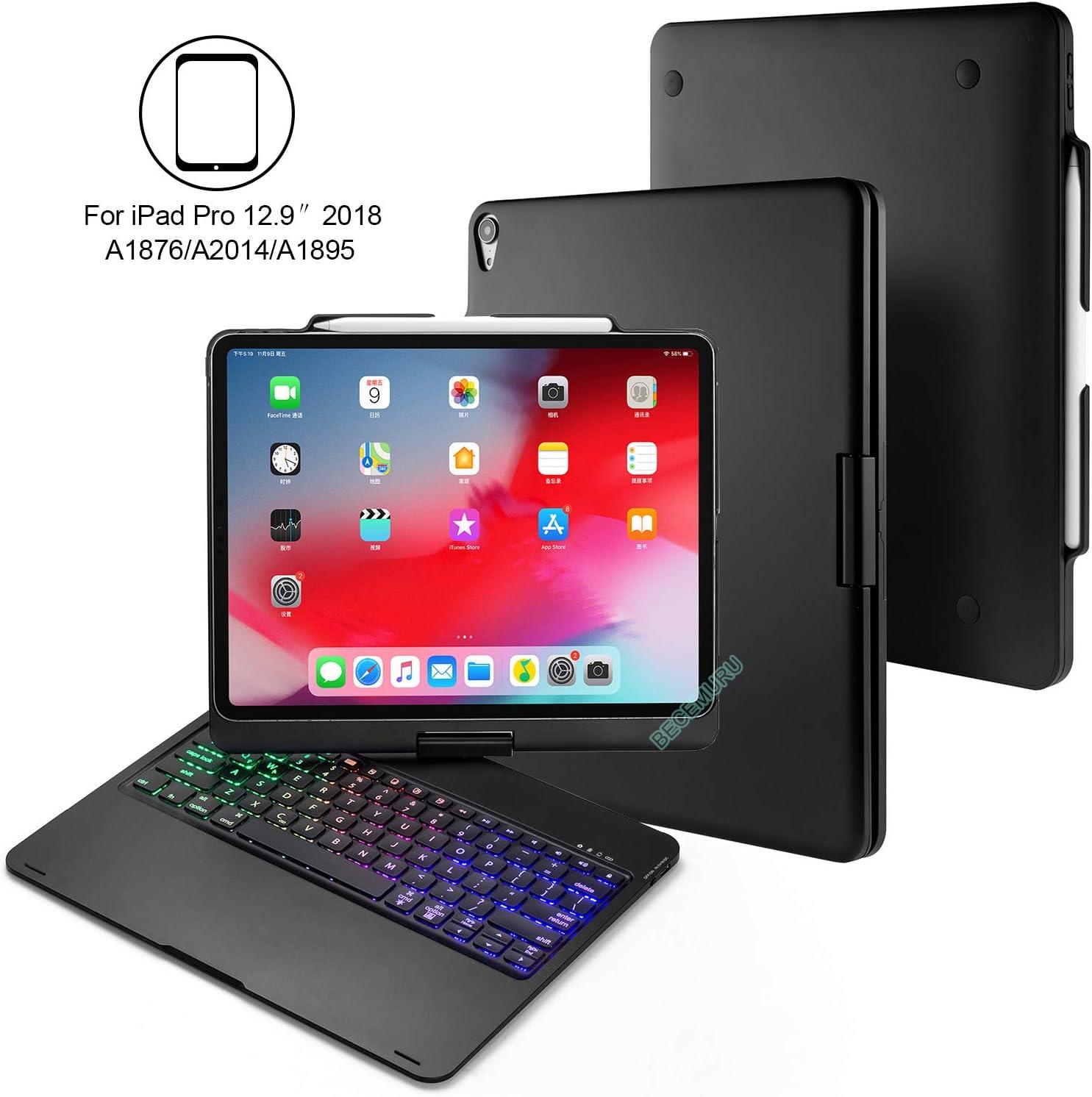 BECEMURU Funda con Teclado para iPad Pro 12.9 360°Funda ...