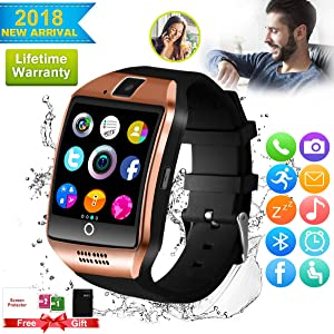 Smart Watch,Bluetooth Smart Watch for Android Phones, Smartwatch Touchscreen with Camera, Smart