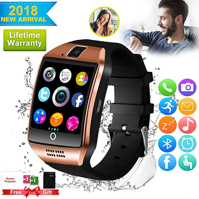 7d7e198583bc57 Smart Watch,Bluetooth Smart Watch for Android Phones, Smartwatch  Touchscreen with Camera, Smart