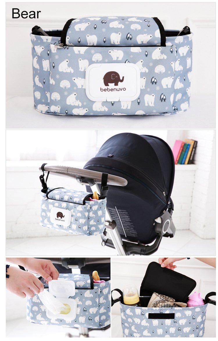 ICYCHEER Baby Stroller Buggy Pram Baby Buggy Bag Universal Multi-function Storage Bag Organizer EVER.GRACE