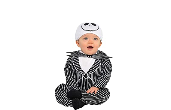 6d4418b2859fc Amazon.com  Party City The Nightmare Before Christmas Jack Skellington  Halloween Costume for Infants