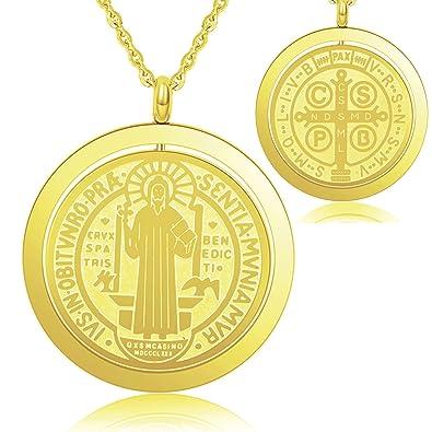 Amazoncom Is Saint Benedict Medal Catholic Cross Protection Gold